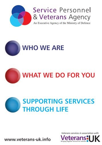who we are what we do for you supporting services through life