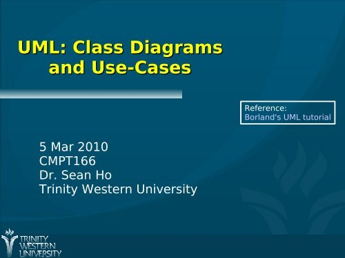 UML: Class Diagrams and Use-Cases