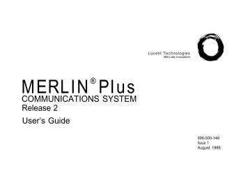 Merlin Plus Users Guide - UniTech