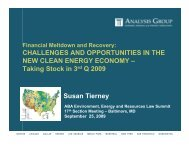 Challenges and Opportunities in the New Clean ... - Analysis Group