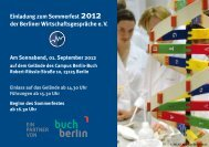 Einladung zum Sommerfest 2012 der Berliner Wirtschaftsgespräche ...