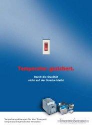 damit Ihre Produkte garantiert gut ankommen ... - Thermosecure.de