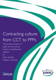 Contracting culture: from CCT to PPPs - Unison