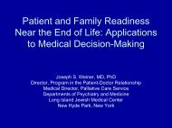 Patient and Family Readiness near the End of Life: Applications to ...