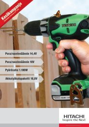 Kesäkampanja - Hitachi Power Tools Finland Oy