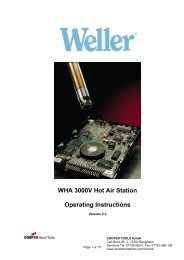 WHA 3000V Hot Air Station Operating Instructions