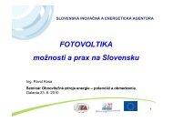 FOTOVOLTIKA možnosti a prax na Slovensku - Slovenská inovačná ...