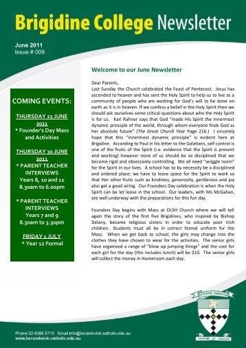 Issue 008 June 17th 2011 - Brigidine College Randwick