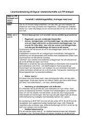 Lärarhandeledning till Signal- teleteknikerhäfte och PP ... - Trafikverket