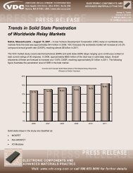 Trends in Solid State Penetration of Worldwide ... - VDC Research