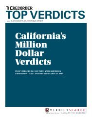 Top verdicts - Los Angeles personal injury lawyer