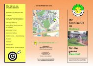 Ihr Tennisclub im Grünen - Tennis-Club Grün-Weiss Hochdahl e.V.
