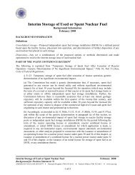 Interim Storage of Used or Spent Nuclear Fuel - American Nuclear ...