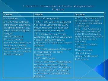 I Encuentro Internacional de Familias Monoparentales ... - De paseo
