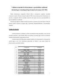 Metoda pentru determinarea de compusi organici volatili in ... - ITIM