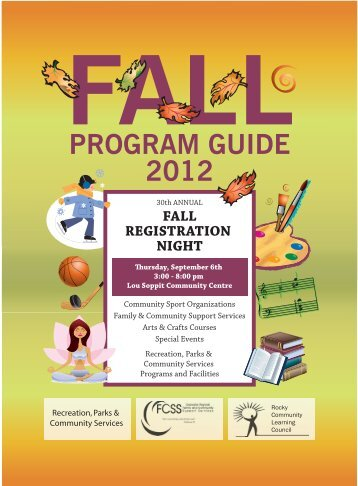 2012 Fall Program Guide - Town of Rocky Mountain House