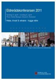 Program og presentasjonar på Eldrerådskonferansen 2011