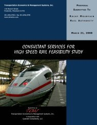 consultant services for high speed rail feasibility study tems
