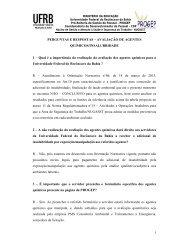 Perguntas e respostas freqüentes - UFRB