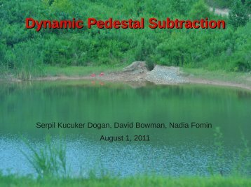Dynamic Pedestal Subtraction