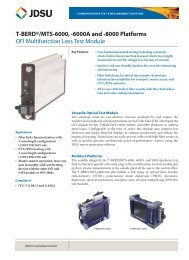 T-BERD®/MTS-6000, 6000A and -8000 Platforms - JDSU