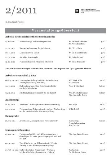 Veranstaltungsübersicht - Unternehmerverbände Rhein-Wupper