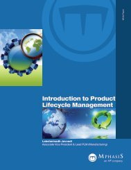 Introduction to Product Lifecycle Management - MphasiS