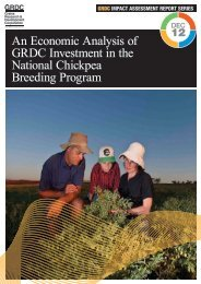 An Economic Analysis of GRDC Investment in the National Chickpea