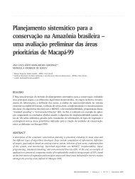 87 Planejamento sistemático para a conservação na Amazônia ...