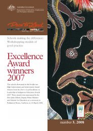 Excellence Award winners 2007