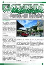 Ausgabe Nr. 3/2010, September 2010 Zugestellt durch Post.at ...