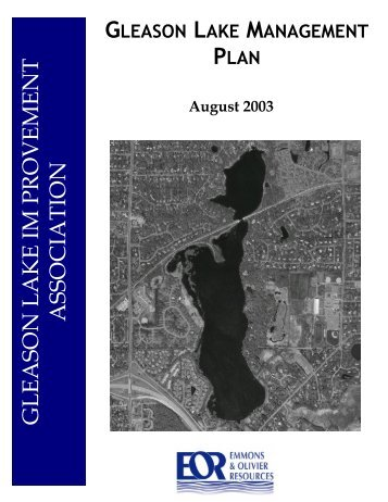 Gleason Lake Management Plan - Gleason Lake Improvement ...