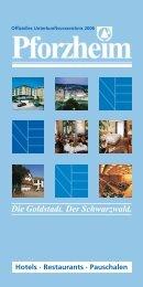 "die goldstadt. ""pauschal"" - International Office Pforzheim"