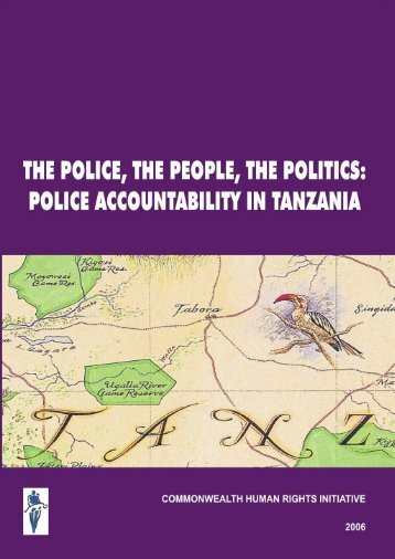 tanzania report final - Commonwealth Human Rights Initiative