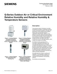 Q-Series Outdoor Air or Critical Environment Relative Humidity and ...