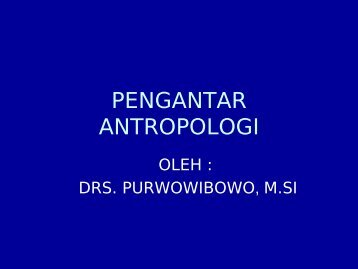 PENGANTAR ANTROPOLOGI - WordPress.com