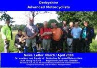 Parish profile 2003 - Derbyshire Advanced Motorcyclists