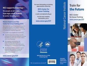 Train for the Future - National Cancer Institute