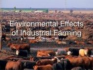 Environmental effects of industrial farming
