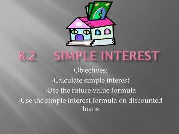 8.2 Simple Interest