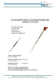 SCARF-Schrauben Fixier-Set - Handke Medizintechnik