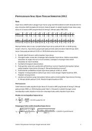 ST Penyelesaian Soal UTS 2012 - istiarto