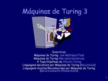 Máquinas de Turing 3