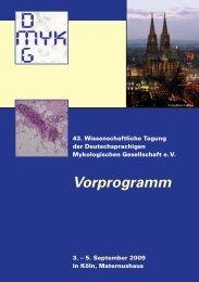 Vorprogramm - Österreichische Gesellschaft für Medizinische ...