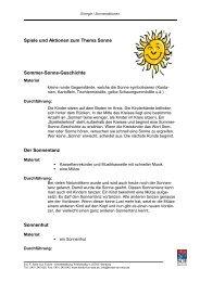 Spiele und Aktionen zum Thema Sonne - Kinder tun was!