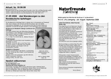 NaturFreundeHamburg Juli / August / September 2008