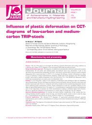 Influence of plastic deformation on CCT - Journal of Achievements in ...