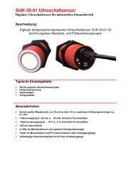 SUK-30-01 Ultraschallsensor