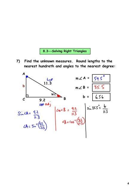 8 3--Solving Right Tri