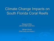 Climate Change Impacts on South Florida Coral Reefs